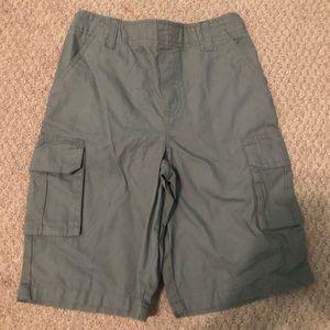 Boy's grey cargo shorts